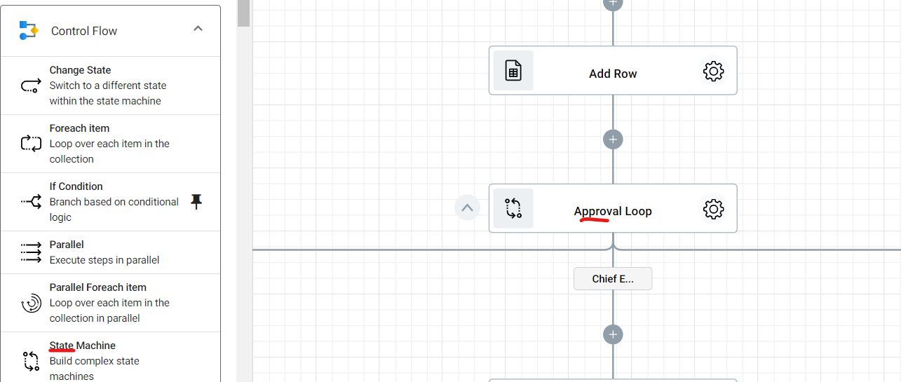 Adding the State Maching into the Dpcument Approval Workflow.