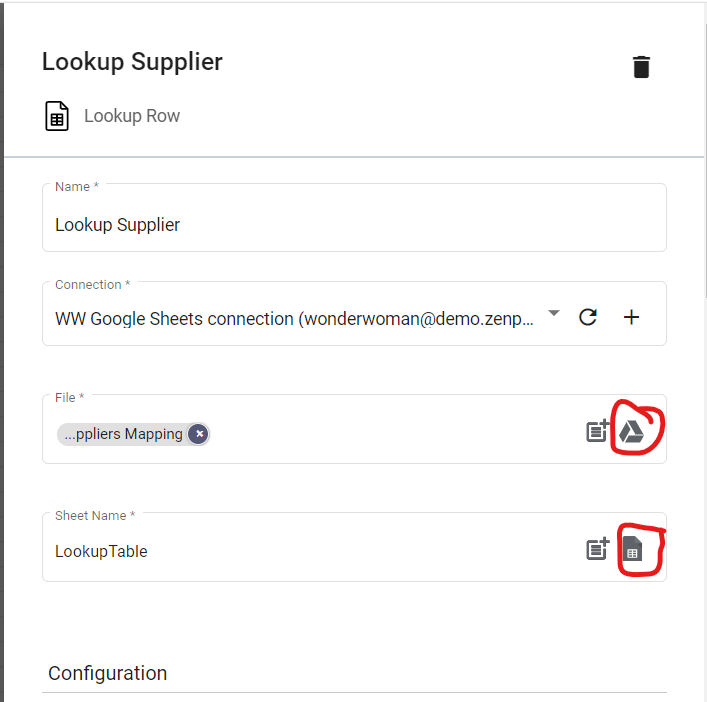 Step 10.2. Configuring Lookup Supplier. Routing the right files.
