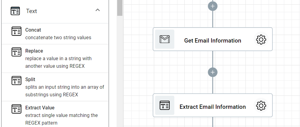 Step 8.1. Adding Extract Email step.