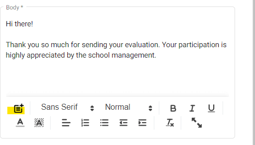 Email body of the Google for Education Workflow.
