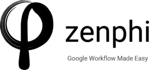 zenphi, a 3rd-party Google workflow automation platform that has a drag and drop feature.