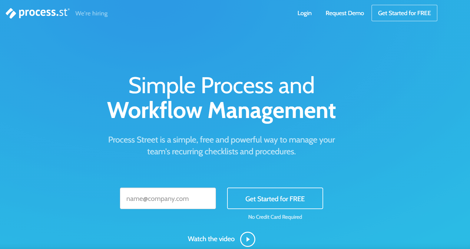 Process Street takes on workflow management software on a different approach. It serves as a checklist for all your processes and workflows so you stay efficient.